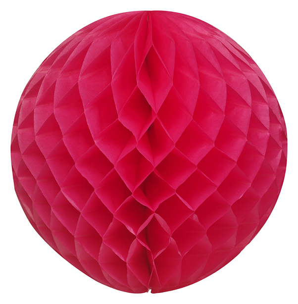 Bright pink honeycomb ball-0