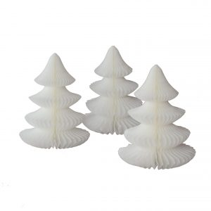 Set 3x 'Christmas tree white'-0