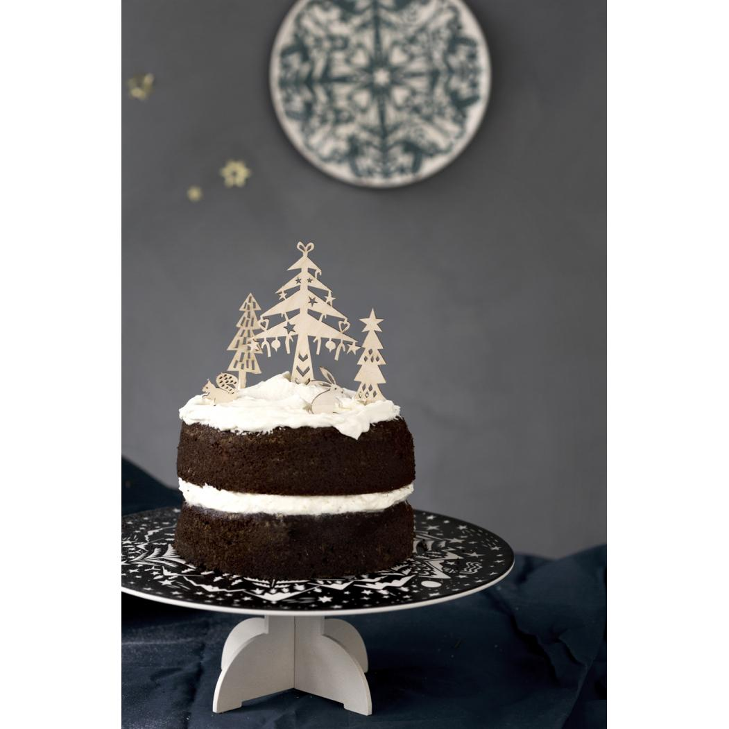 Houten cake toppers 'Winter'-2457