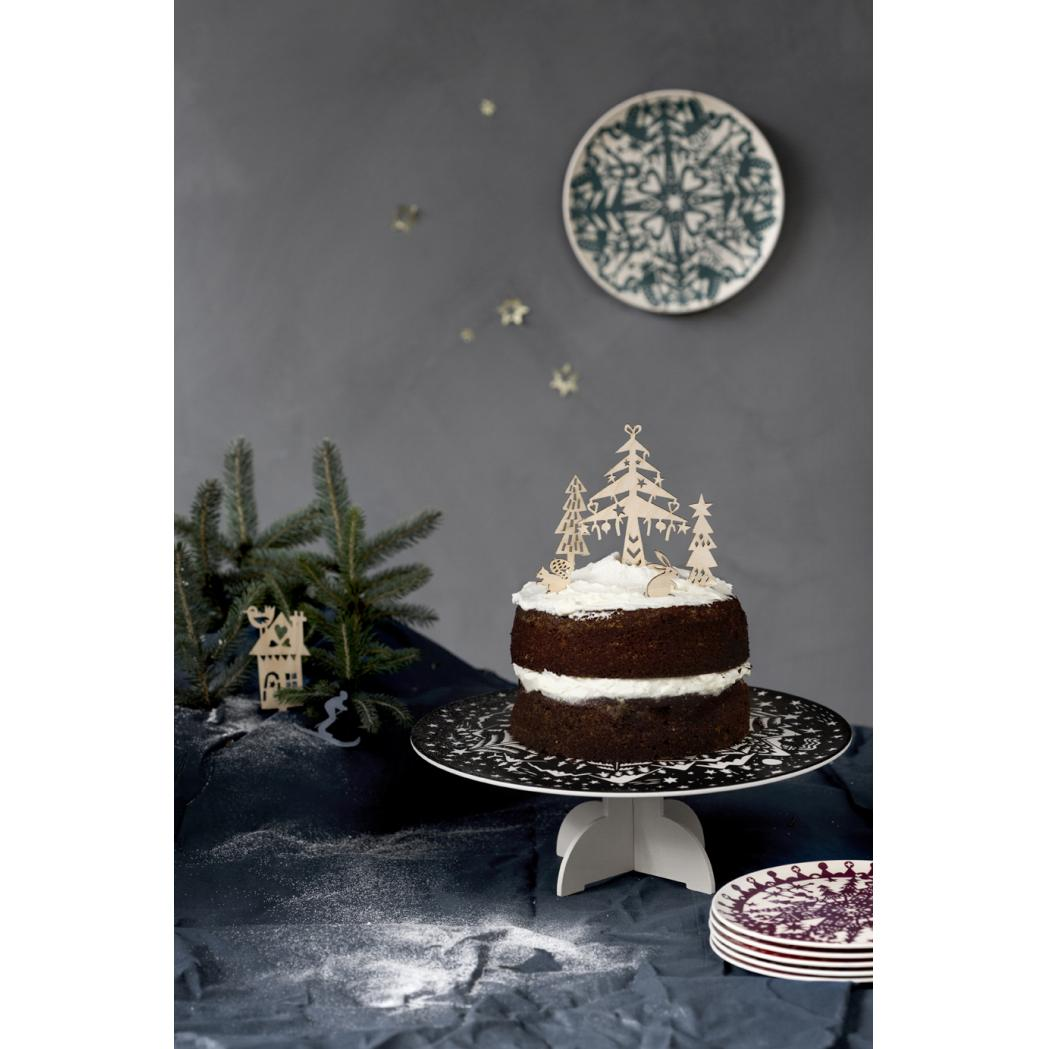Houten cake toppers 'Winter'-2458