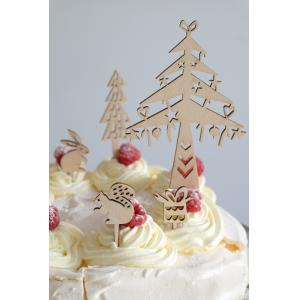 Wooden cake toppers 'Winter'-0