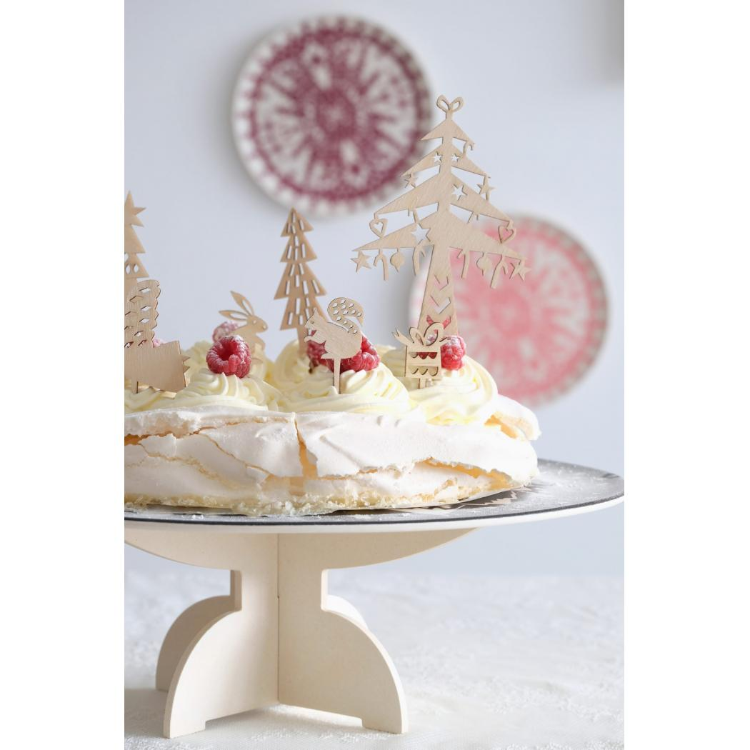 Houten cake toppers 'Winter'-2548