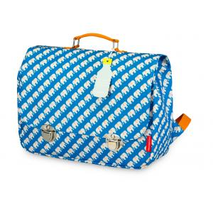 Schooltas large 'Elephant Blue'-0