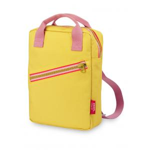 Rugzak small 'Zipper Yellow'-0