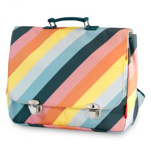 Schooltas large 'Stripe Rainbow' -0