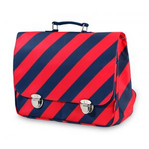 Schooltas large 'Stripe Navy'-0